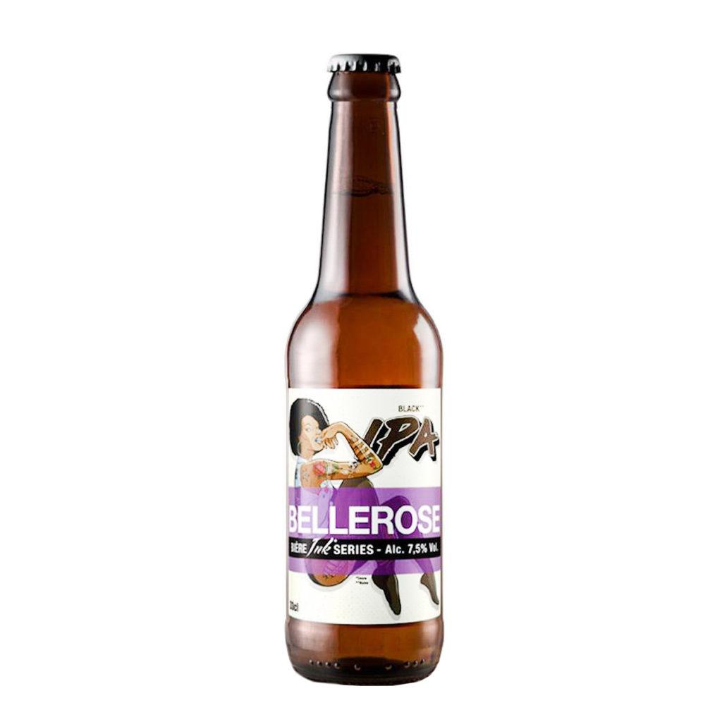Bière IPA Bellerose black IPA de la brasserie des sources